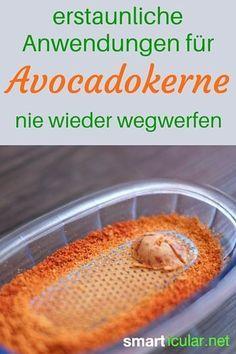 Wenn du Avocados liebst, dann nutze sie ganz und wirf den Avocadokern nicht einfach weg! Es gibt ein paar geniale Möglichkeiten, die Kerne sinnvoll u nutzen!