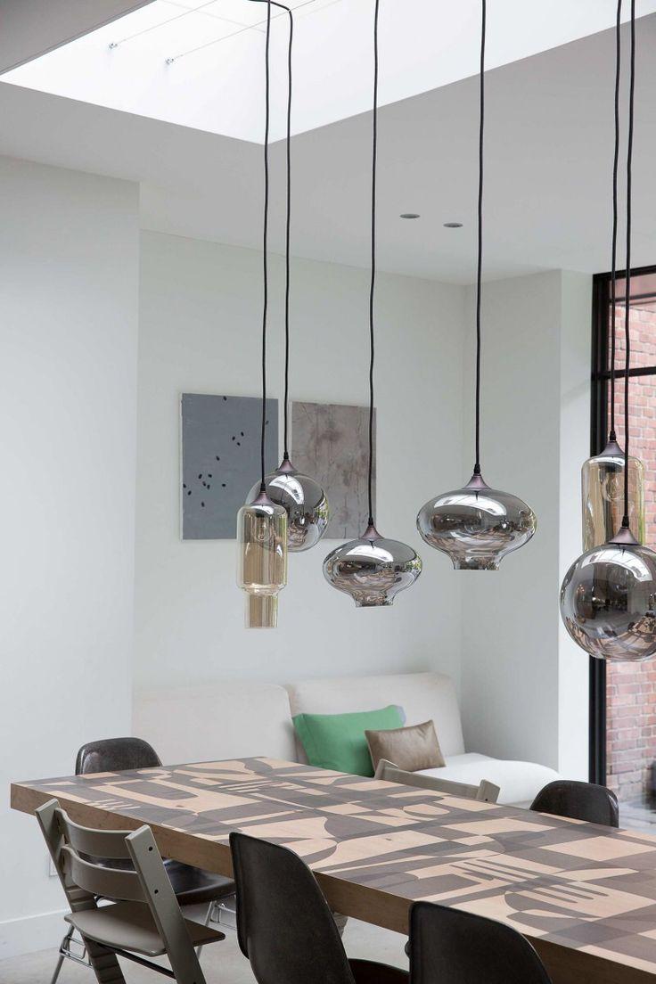 17 beste idee n over eettafel verlichting op pinterest for Lampen eettafel design