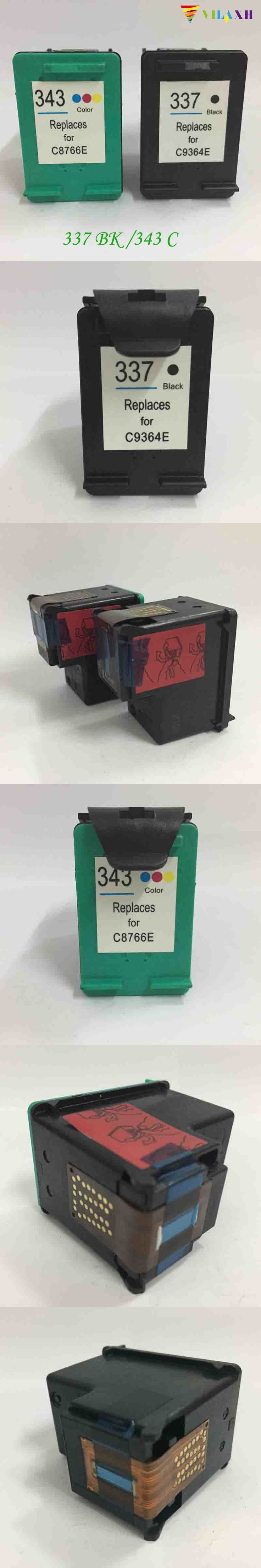 For HP 337 343 Ink cartridge For HP337 343 smart C4180 C4190 2575 8050 D5160 Deskjet
