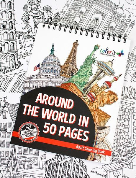 Around The World In 50 Pages Illustrated By Hasby Mubarok Coloring BooksAdult