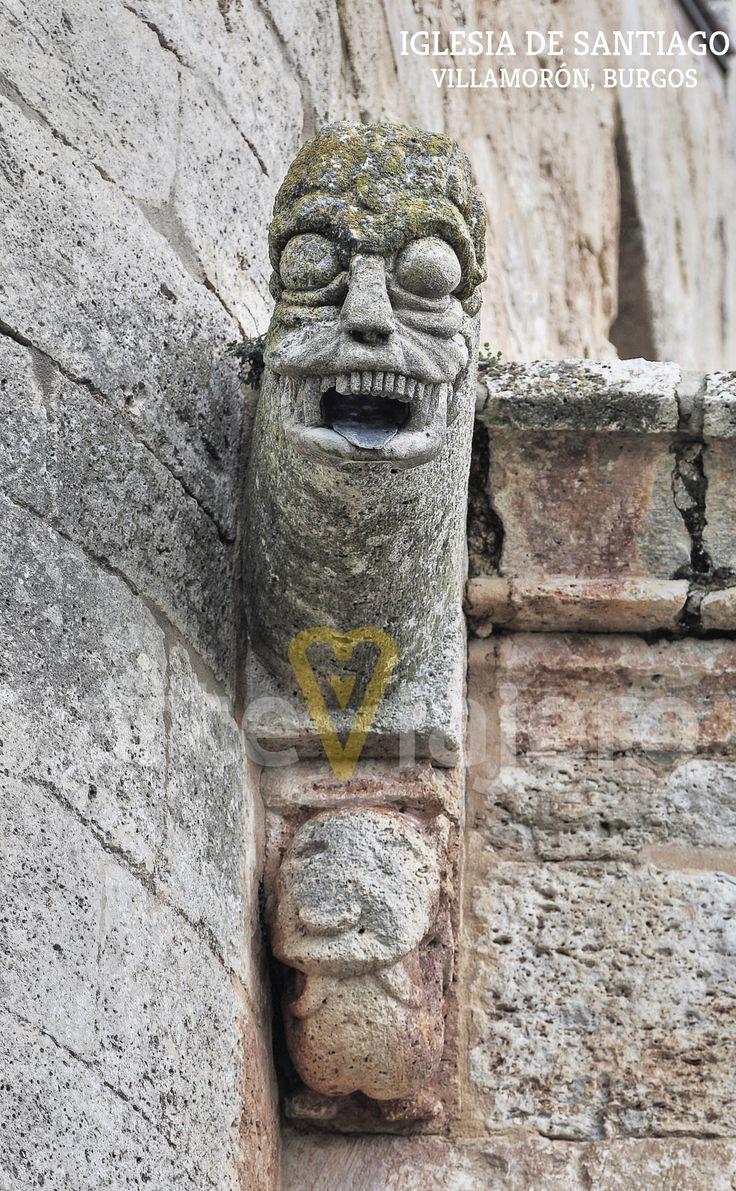 Gárgola de la iglesia de Santiago Apóstol, #Villamorón #Burgos http://arteviajero.com/
