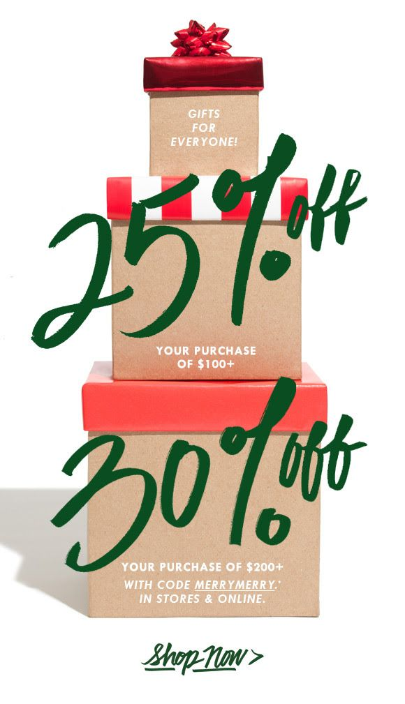 JCrew Sale Email Design
