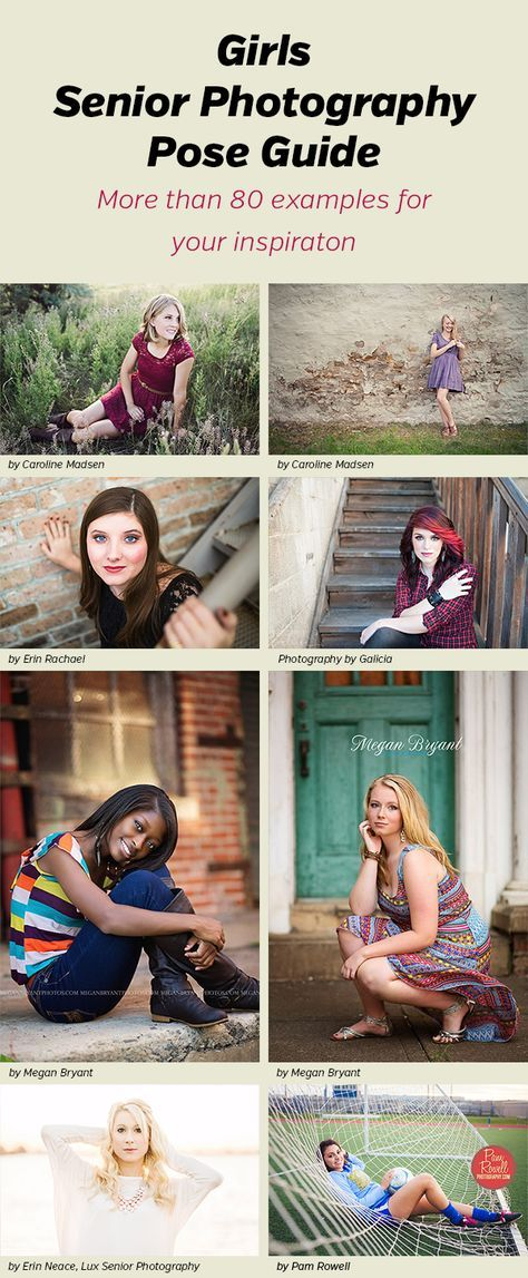 Senior Photography Poses for Girls - more than 80 photos and poses for inspiration for your own senior sessions.