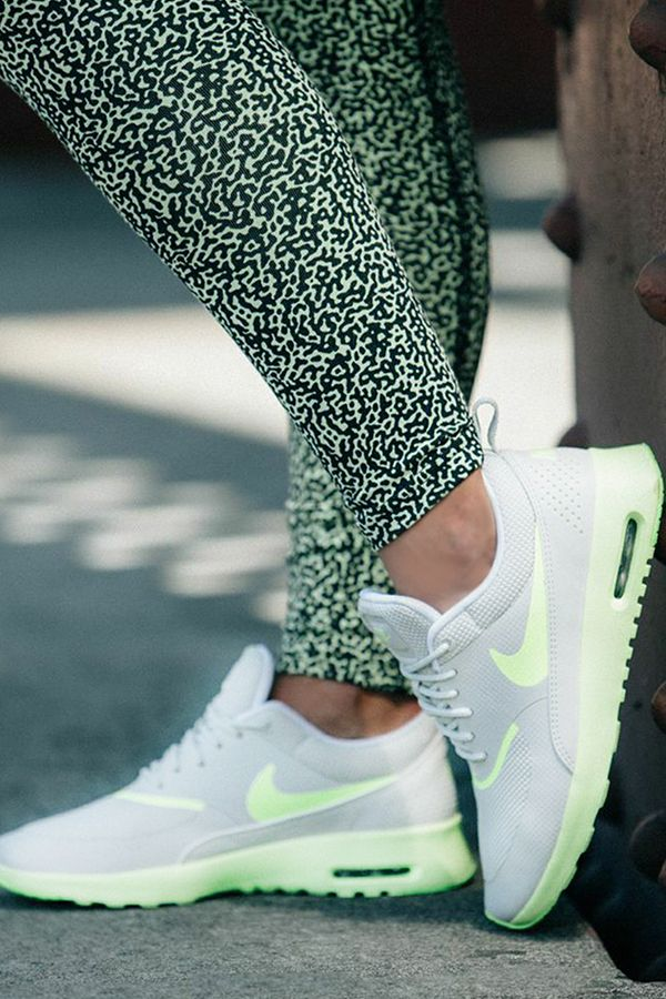 Sleek style with a pop of bright. Keep it fresh heading into fall in the Nike Air Max Thea.