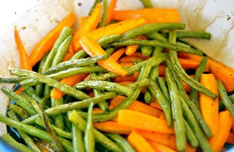 Cold Steamed Carrot and Green Bean Salad w/Balsamic Vinaigrette ...