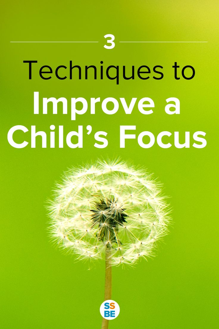 3 techniques to improve focus with kids. Perfect for the child who doesn't hold or pay attention for a long time. Focus is an important skill—improve focus in children with these 3 tips.