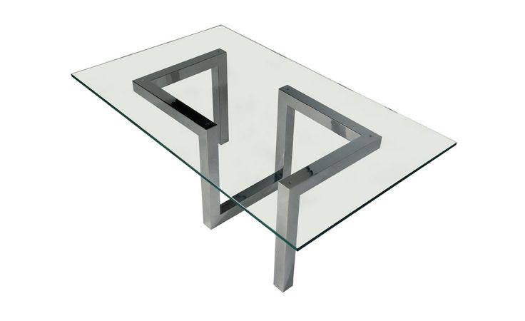 EnVie Life - Aquila Coffee Table Riluc - Polished stainless steel coffee table base. Glass top