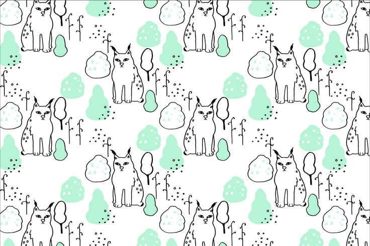 Heidis Lynxes Snowy Day for magnetic wallpapers as a co-operation with Tehosteseinä Oy.
