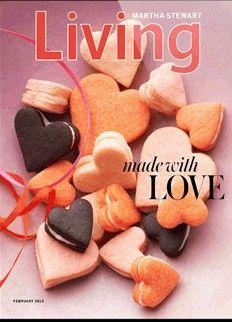 Martha Stewart Living Magazine, February 2013  (recipe index)