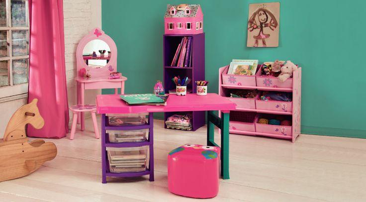 Inspírate y decora la habitación de tu hija.  #Muebles2014 #Niñas #Decoración #Easy #EasyTienda #Kids #Deco #Colors  http://www.easy.cl/estilo-infantil