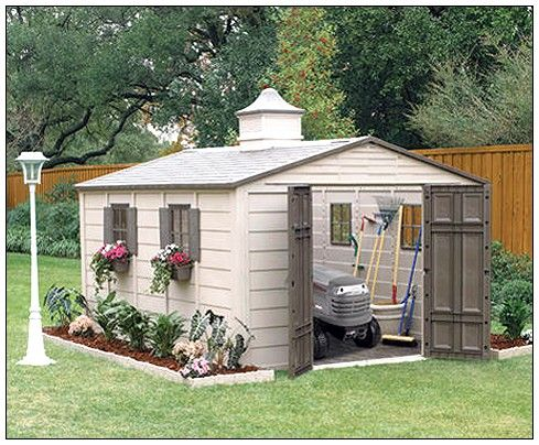 The ultimate traditional garden shed! Great for backyards with no place for an ugly tin shed