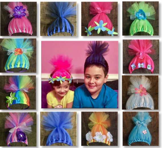 This listing is for Troll hair Headbands that are inspired by the movie Trolls. ***Due to the popularity of the Trolls, Please make your order at least 6-8 weeks in advance of your needed date. (Or message to see if I can fit you in - sometimes I can if Im on schedule or ahead of schedule) ***At this time, I absolutely CANNOT take anymore orders needed before Mid May. *These are NOT pre-made, I hand make each one which takes about an hour time for each. Dont forget to note your needed by…