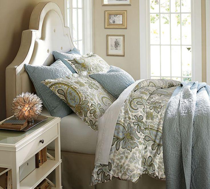 17 best ideas about paisley bedding on pinterest navy - Pottery barn master bedroom ideas ...