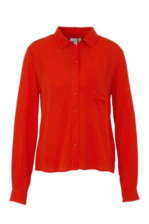 b8332eaf35e938 Blouse oranjerood in 2019 | Dames fashion - Blouse, Mouwen en Lange ...