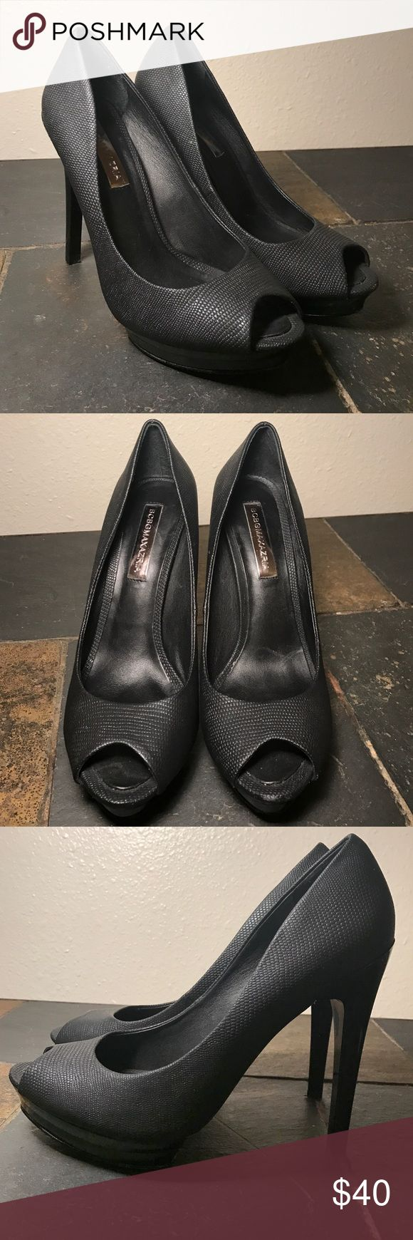 """BCBGMaxAzria Vero Cuoio Black Stilettos Like new. In perfect condition, only worn once. Very minor knock on back of one heel. Size 7B.  Heel measures 5"""". BCBGMaxAzria Shoes Heels"""