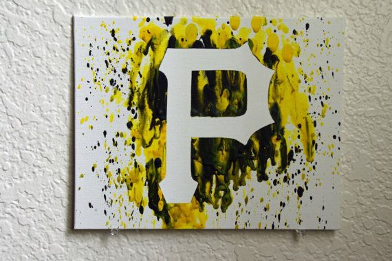 Pittsburgh Pirates Melted Crayon Art by MikeAndKatieMakeArt