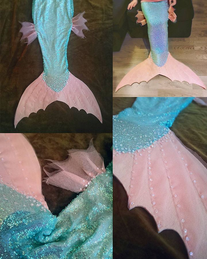 Kid's mermaid costume by Ulla Thynell.
