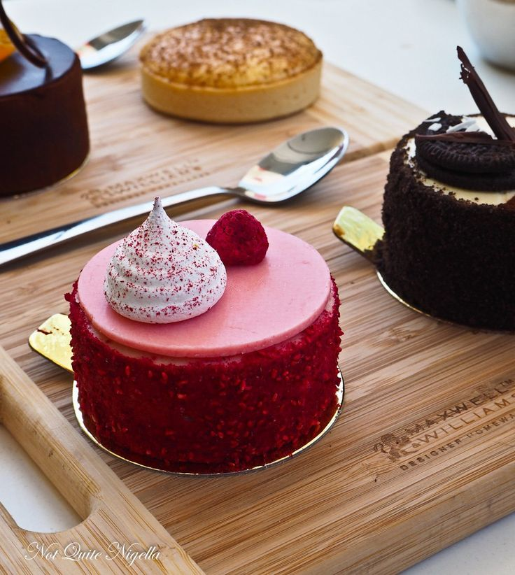 Raspberry and blackcurrant mousse @ Strawberry Fields Patisserie, 2/420 New Canterbury Rd.