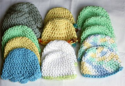 Easy Preemie Hat Knitting Pattern : Free Crochet Baby Hat Patterns Crochet Preemie Hunnie ...