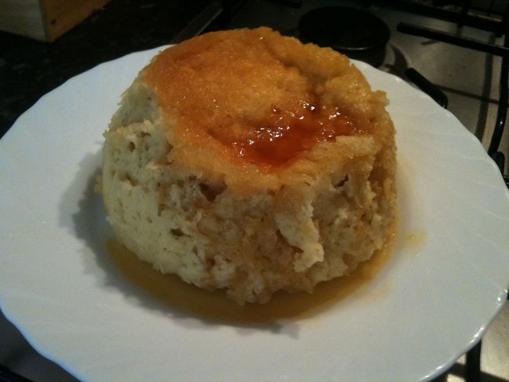 Microwave suet pudding like my grandma used to make - can also use jam instead of syrup