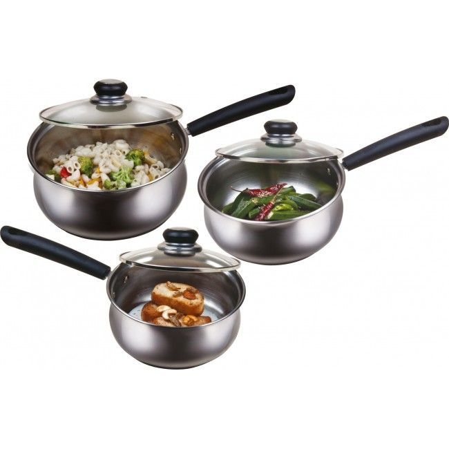 Buy Maple Stainless Steel Buckingham 3pcs Cookware Set Online