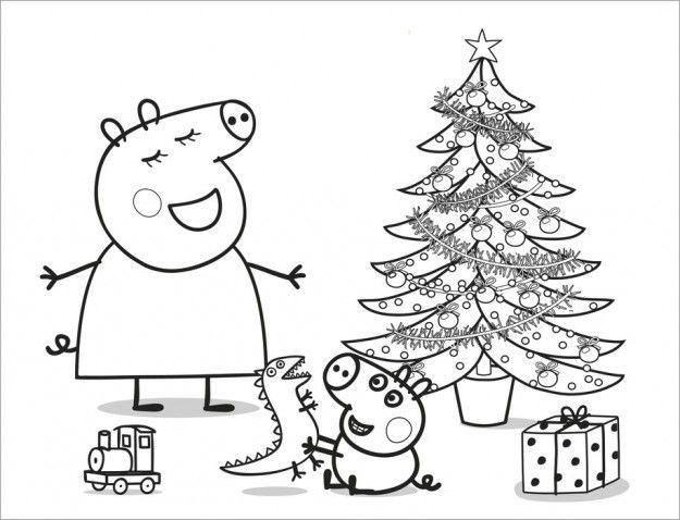 Peppa Pig Il Compleanno Di Natale.Pin Di Olive Guzman Su Christmas Disegni Da Colorare Natalizi