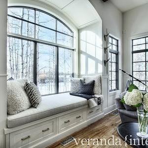 Arched Window Seat Nook, Transitional, living room, Veranda InteriorsBlowoutDiva.com                                          MD | DC | VA                                                  Hair Stylists & Makeup Artists that come to you. BlowoutDiva.com