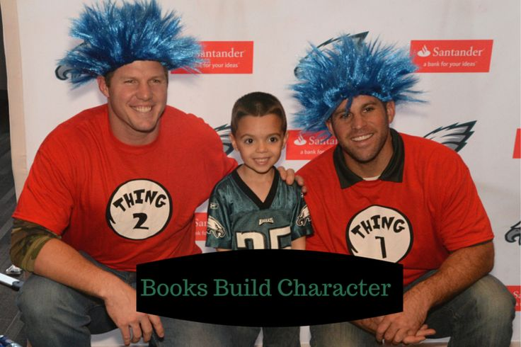 Books Build Character, kicking off the Philadelphia Eagles and Santander Bank Holiday Book Drive