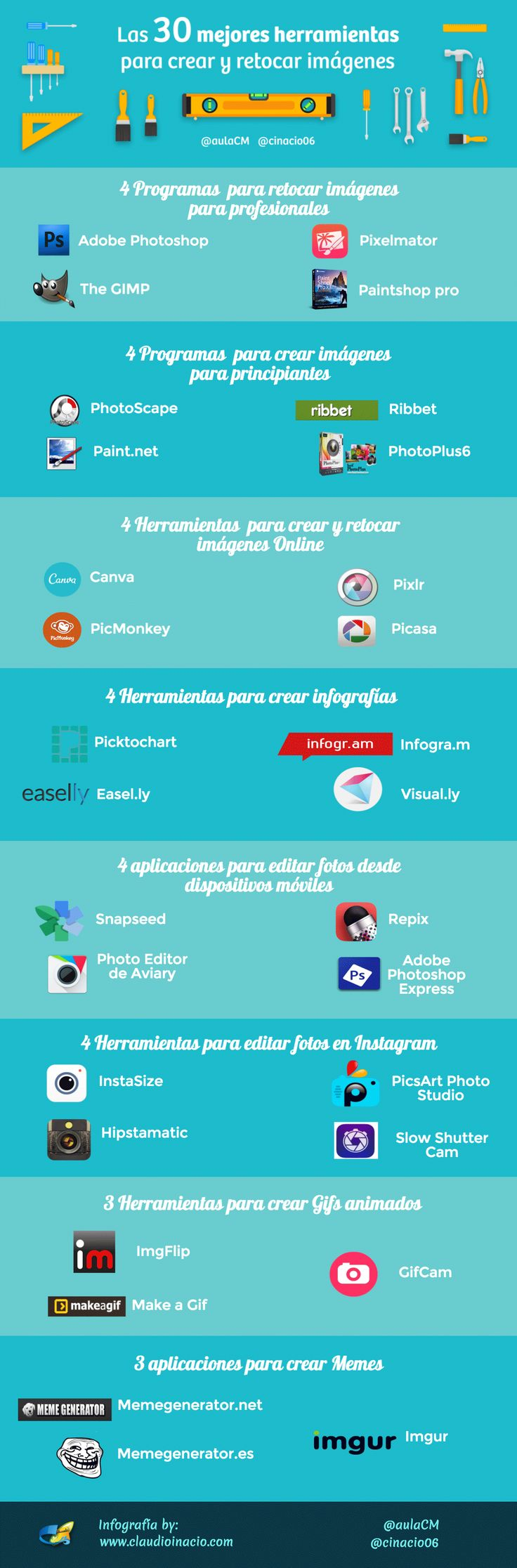 infografia programas imagenes