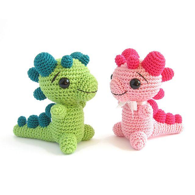 Ravelry: Rattle - Baby dragon rattle - Dinosaur - Amigurumi animal - Baby toy - Baby shower gift pattern by Kristi Tullus
