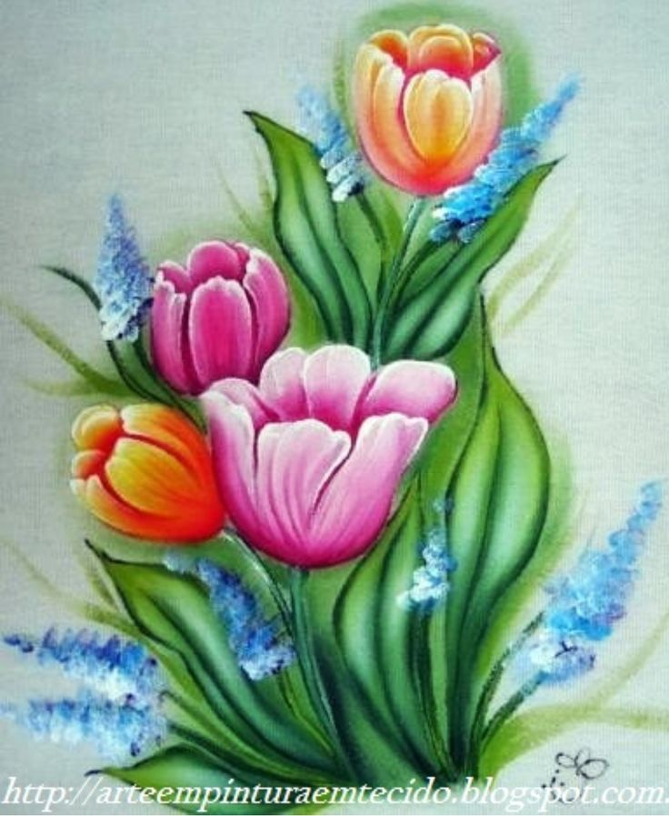 Pintura tulipas
