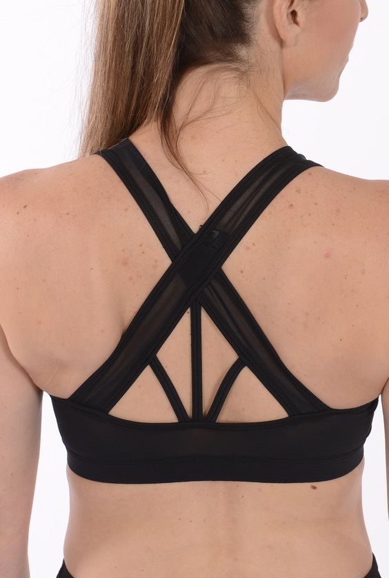 Strappy Back Bra: Because everyone deserves a super-cute sports bra (pro tip: pair it with the Loose Mesh Tank!). Available now at myyogacloset.com
