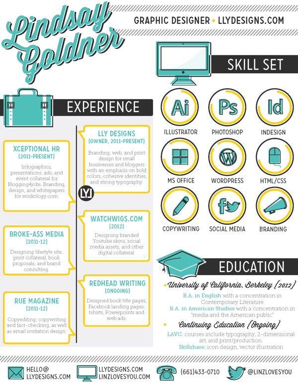30 examples of creative graphic design resumes infographics - Hr Resumes