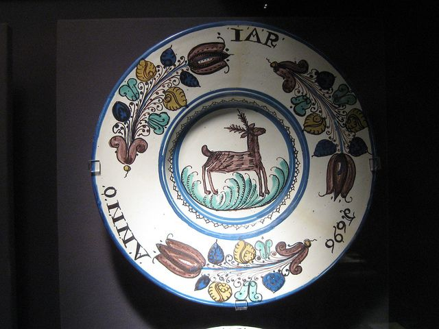 1696 Anabaptist dish (Slovakia) by fboudville, via Flickr