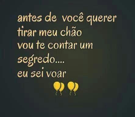 Eu sei voar!!! #portugues