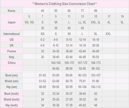 Sammydress Size Chart   Sammydress Scam?