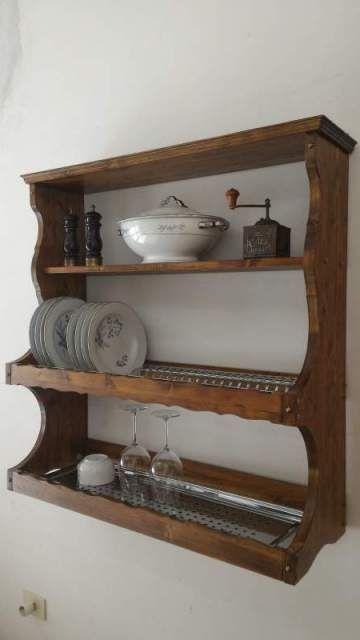 Piattaia credenza pensile mensola scolapiatti cucina