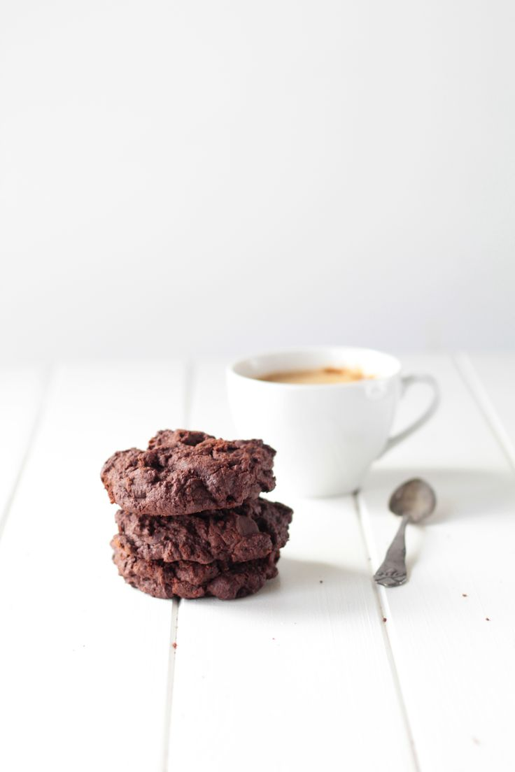 Double Chocolate cookie with chocolate chunks / Chokolade cookies med chokoladestykker