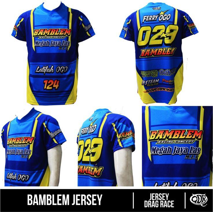 Jersey Dragrace custom-Bamblem Bahan: dry-fit polyester Printing: sublimasi For order: BBM 543D3DBB Qdr Online Shop WA/LINE: 081222970120