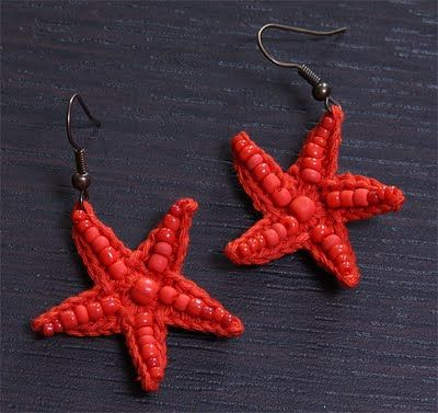 Uncinetto d'oro: #crochet #star #earrings with tutorial
