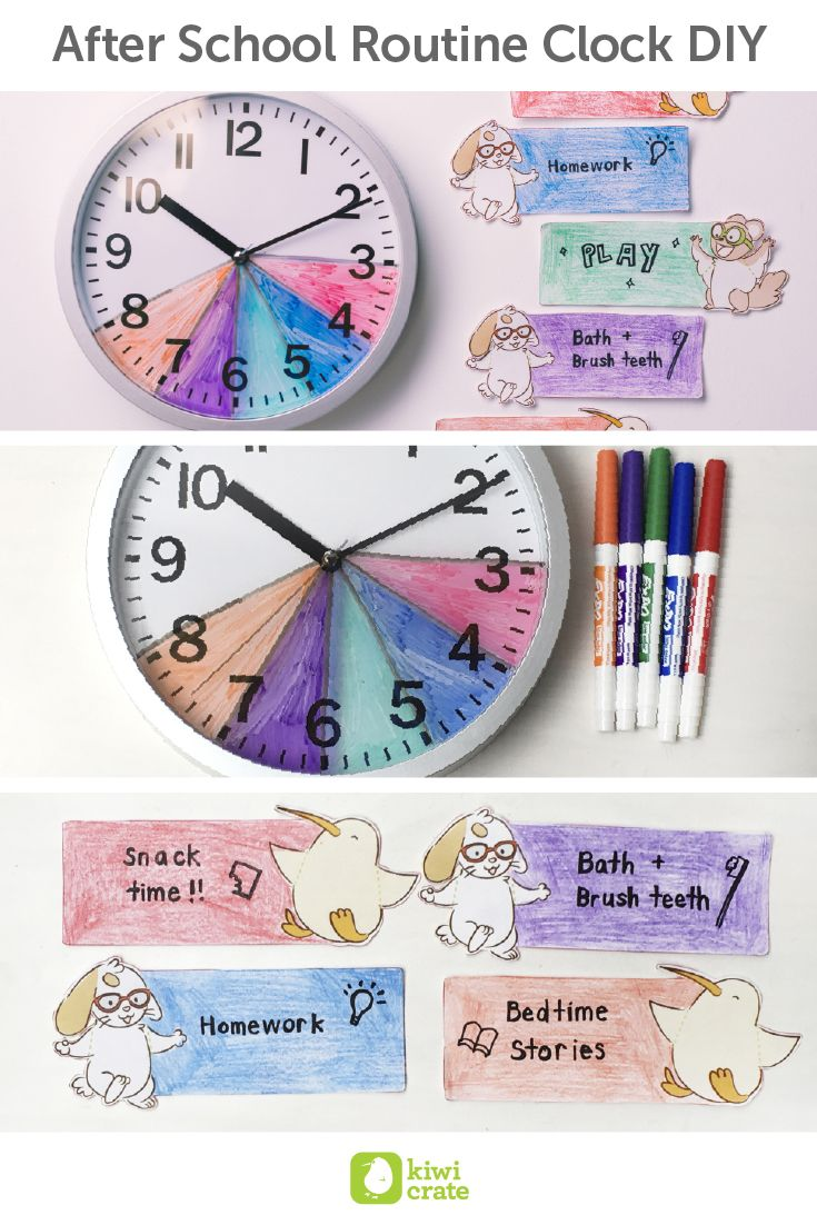 """It's almost time to """"fall back"""" an hour and there's no wasting time trying to keep your kids on track! This weekend, we decided to buy a new clock just for our little one, and encouraged her to keep track of her after school schedule. She had a lot of fun taking control of her own tasks!"""