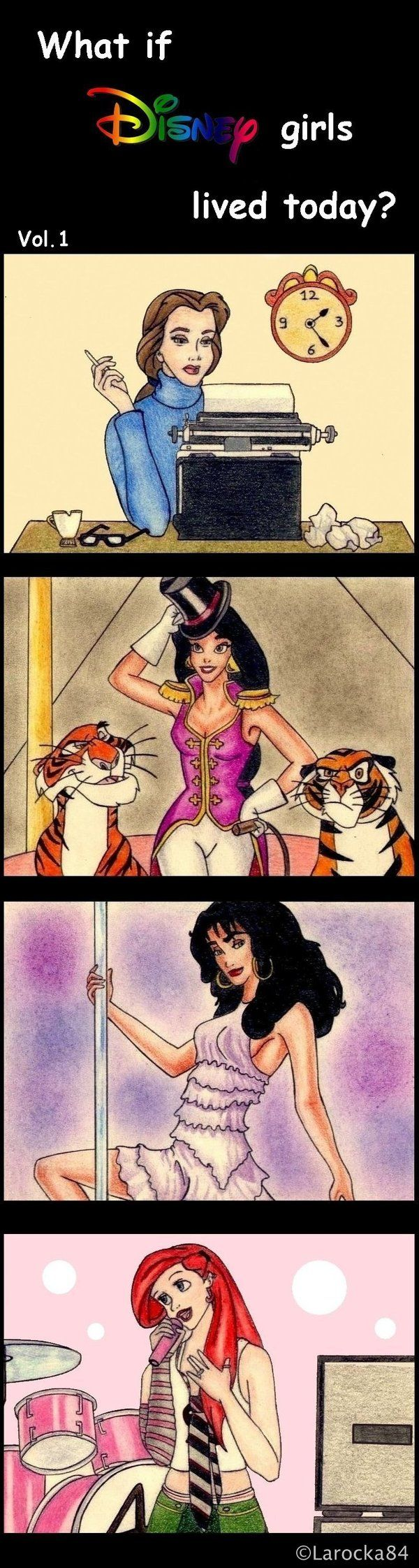 If Disney girls lived today