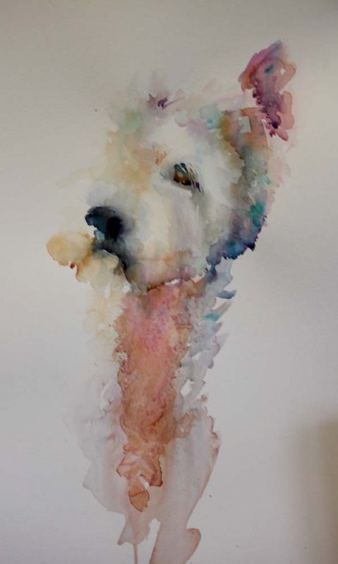 The Magic of Watercolour Painting Virtual Gallery - Jean Haines, Artist - Dogs  #Westie