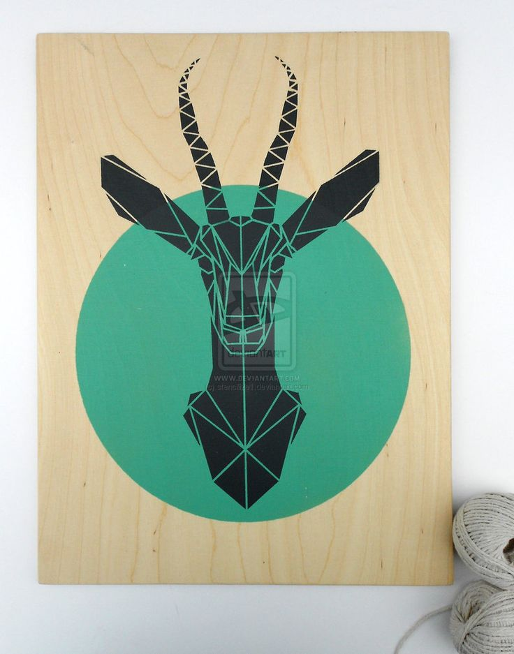 Stencil Art Gazelle by stencilize1 (devent art) 2014  This stencil looks like its been done with two different stencils a circle stencil done in green and then another stencil on top done in back.
