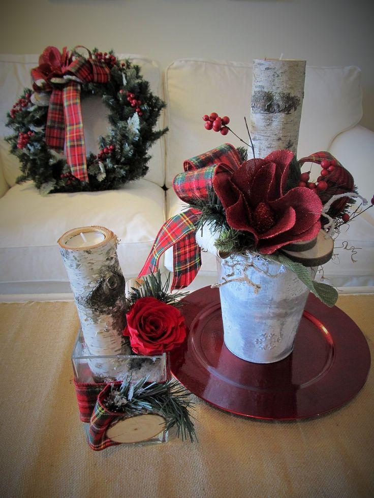 couronne de sapinage arrangement et rose ternelle rustiques sign es l 39 espace fleurs et d co. Black Bedroom Furniture Sets. Home Design Ideas