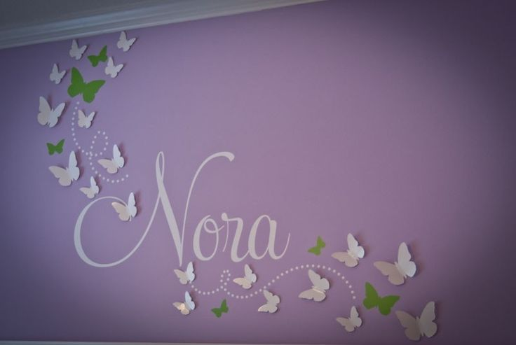 Buy 2 Sets Get 1 Set FREE 3D Butterfly Wall Art Baby Nursery Home Decor Adhesive Included. $13.00, via Etsy.