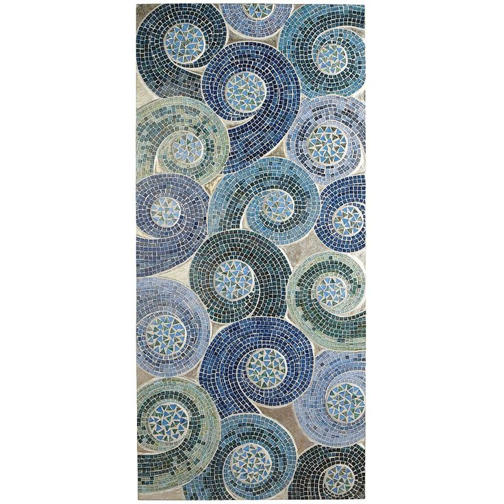 Outdoor Wall Decor Pier One : Mosaic swirls wall panel blue pier imports