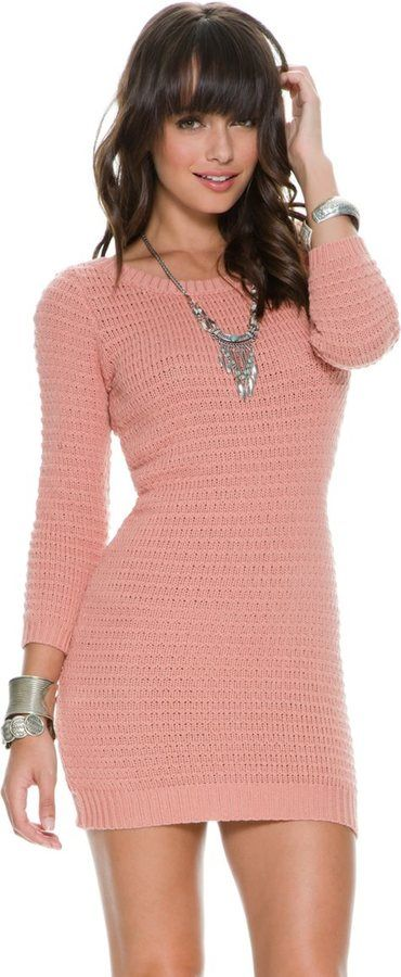 """Rvca Tori Sweater Dress ♥♡♥♡♥Thanks, Pinterest Pinners, for stopping by, viewing, re-pinning, following my boards. Have a beautiful day! ^..^ and """"Feel free to share on Pinterest ^..^ #fashion #fashionupdates"""