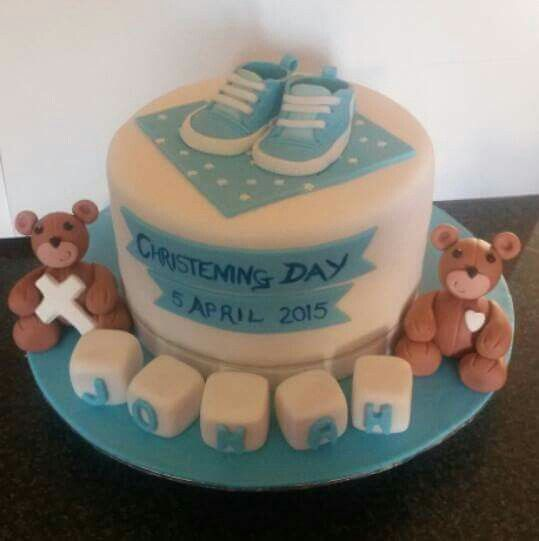 Boy Christening Cake, Cakes by Lizzie, Cape Town, South Africa