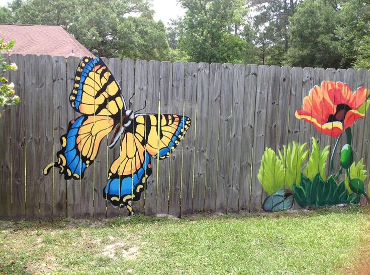 Best 25 fence art ideas on pinterest fence painting for Fence painting ideas